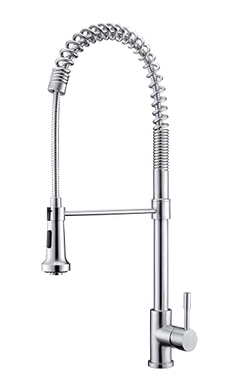 Purelux Kingkong Commercial Style Coiled Spring Kitchen Faucet