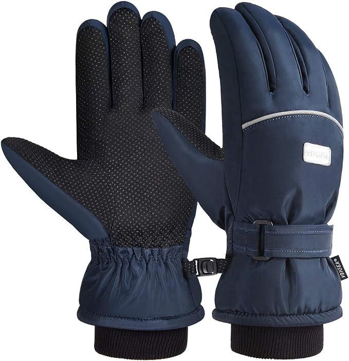 TRIWONDER Guantes de nieve para ni/ños Esqu/í Guantes impermeables de invierno para climas fr/íos Ni/ños ni/ñas