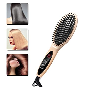 Review UKLISS Hair Straightener Brush,