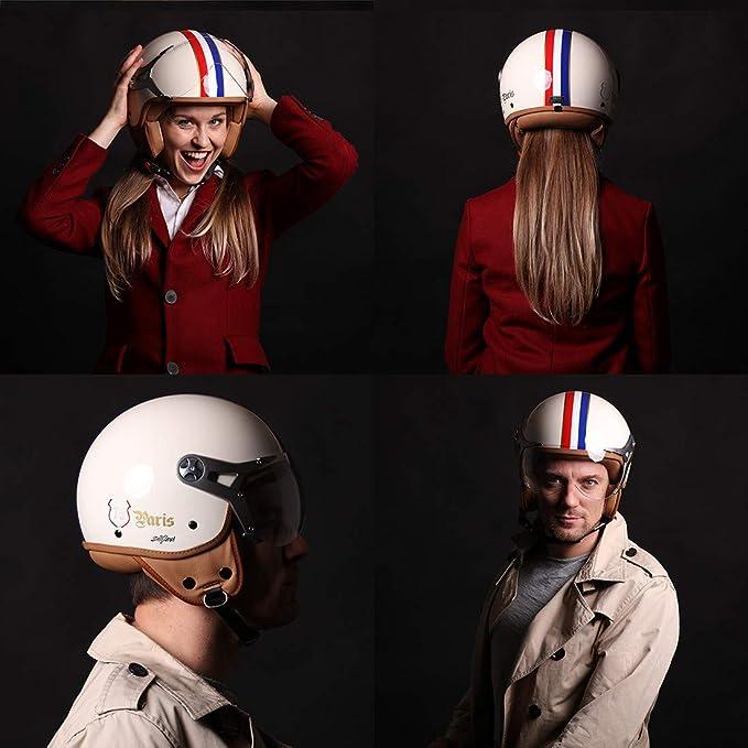 Soxon Sp 325 Paris Jet Helm Motorrad Helm Roller Helm Scooter Helm Moped Mofa Helm Chopper Retro Vespa Vintage Pilot Biker Helmet Brille Ece 22 05 Visier Schnellverschluss Tasche Xl 61 62cm Auto