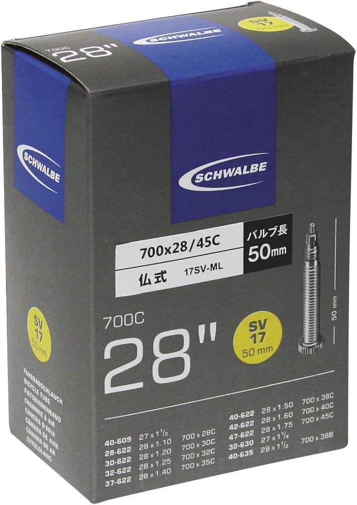 """Schwalbe Nr 17 28/"""" Zoll Fahrrad-Schlauch 700C Sclaverandventil SV 50 mm"""
