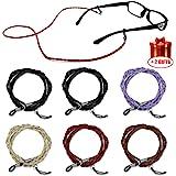 Eyeglass Holder Strap, Leather Safety Glasses Chain, Eyewear Retainer Sunglass Lanyard Cords for Women Men Kids Pack of…