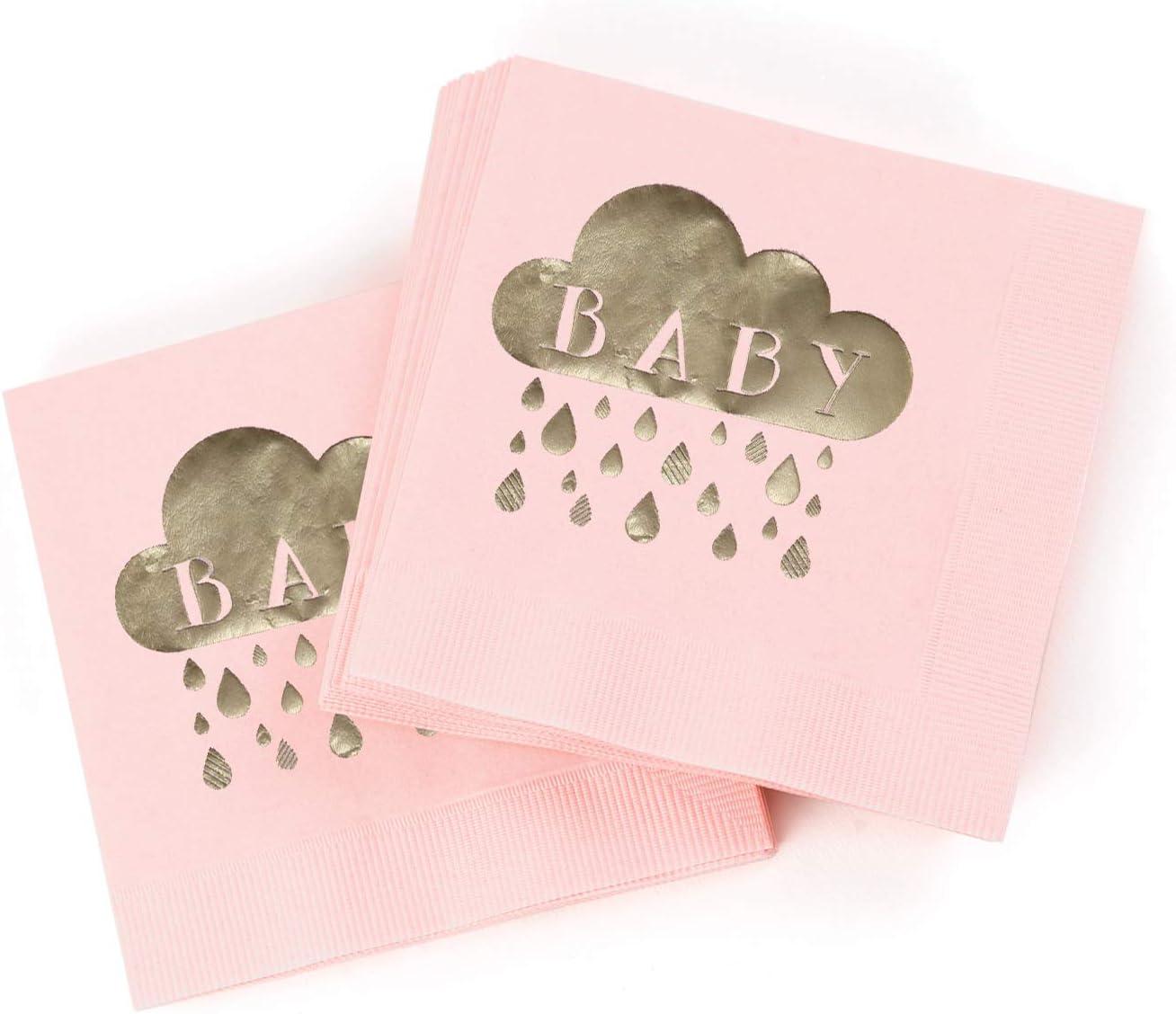 50-Count Hortense B Woodland Animal 4.75-Inch Hewitt Baby Shower Paper Napkins Folded