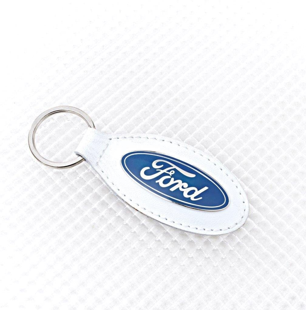 Ford N550093 Leather Key Ring White