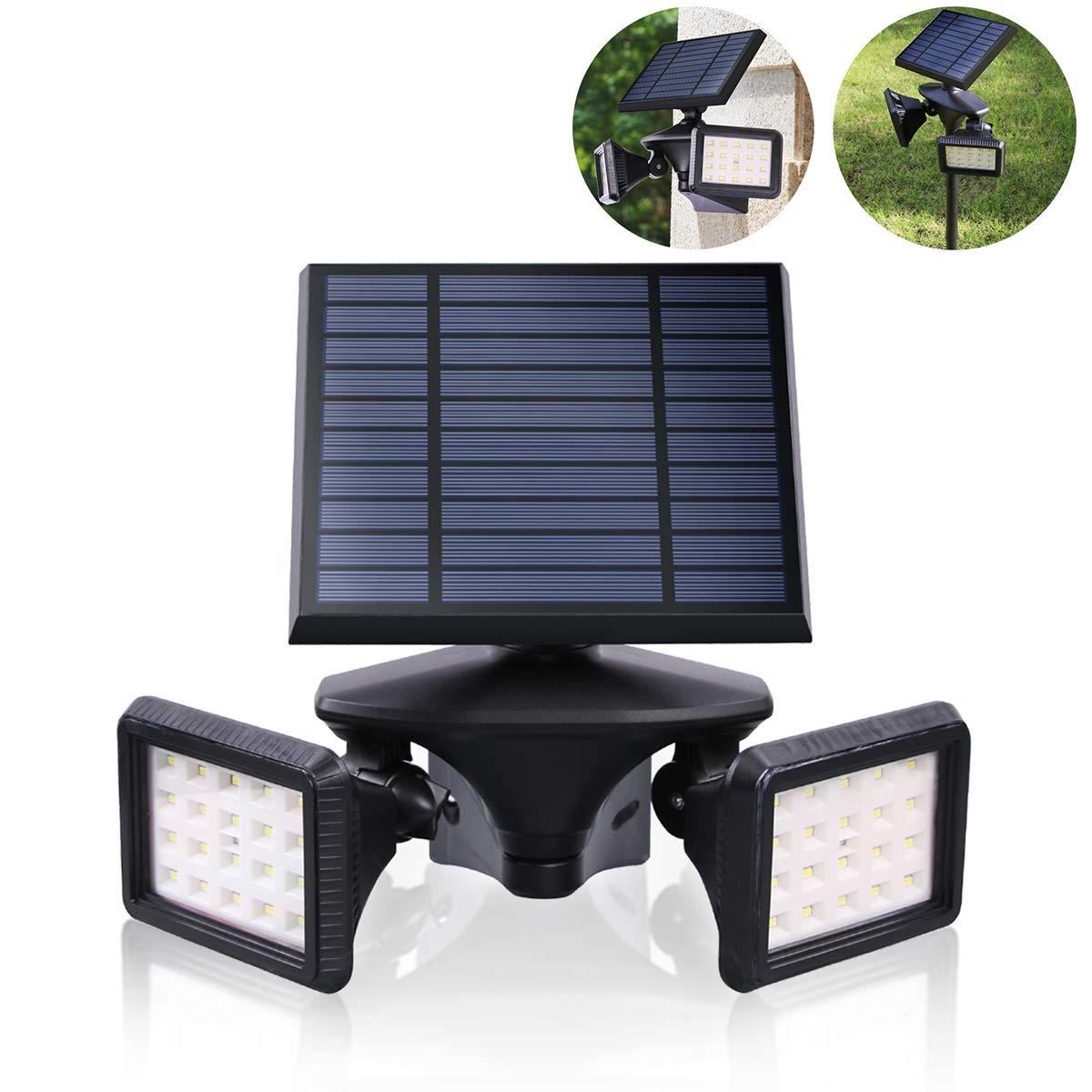 Motion Sensor Solar Lights Outdoor, Dusk to Dawn Wireless Security LED Flood Light, 6000K 40LEDs Very Bright, 2-in-1 Solar Powered Landscape spot Lights Waterproof for Garden/Driveway/Porch, EMANER by EMANER