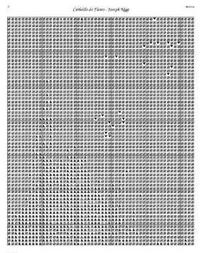 Scarlet Quince NIG001 Corbeille de Fleurs by Joseph Nigg Counted Cross Stitch Chart Regular Size Symbols
