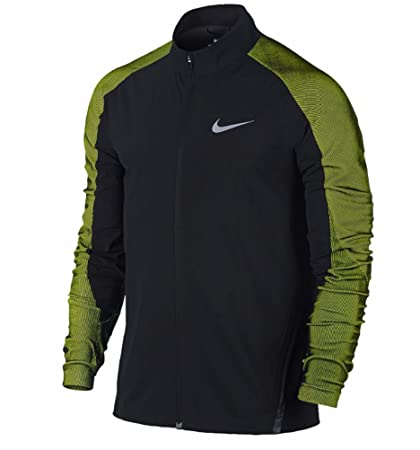 279aa30cb406 Amazon.com  NIKE New Mens Dri-FIT Black and Volt Stadium Jacket ...