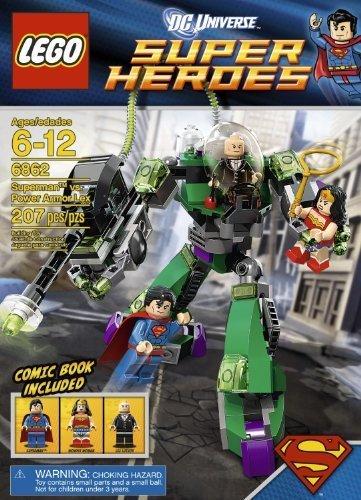 LEGO Super Heroes Superman Vs Power Armor Lex (207Pcs) Figures Building Block Toys (Lego Superman Vs Power Armor Lex compare prices)
