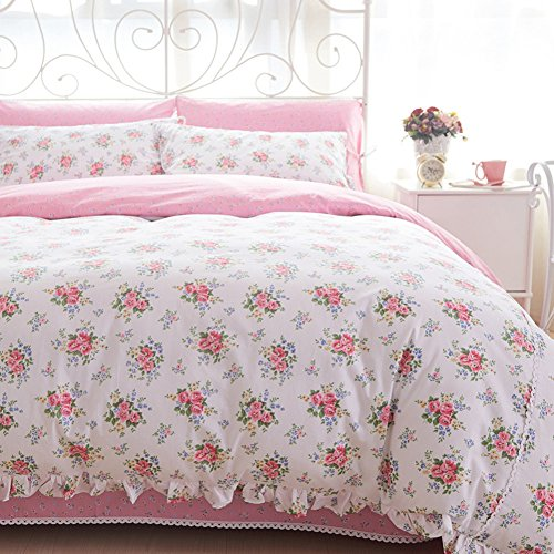 Country Rustic style 100% cotton flower pattern Duvet Cov...