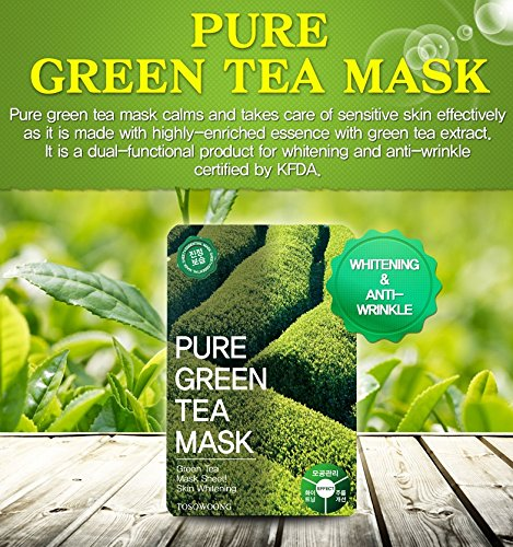 Image result for tosowoong green tea mask