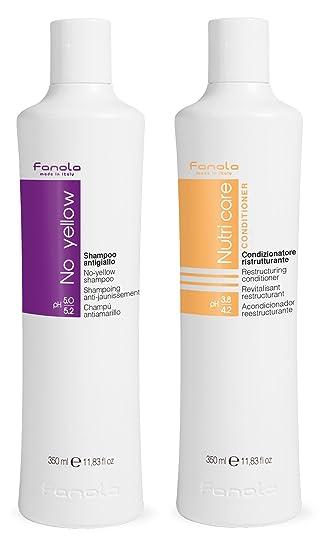 Fanola No Yellow Shampoo 350ml and Nutri Care Conditioner 350ml ... 160d447d4ece
