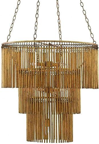 Currey & Company Large Crystal Lights Chandelier | Kitchens