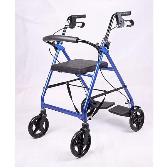XINYAN JIA Andador para Ancianos Aluminio Plegable Frenos ...