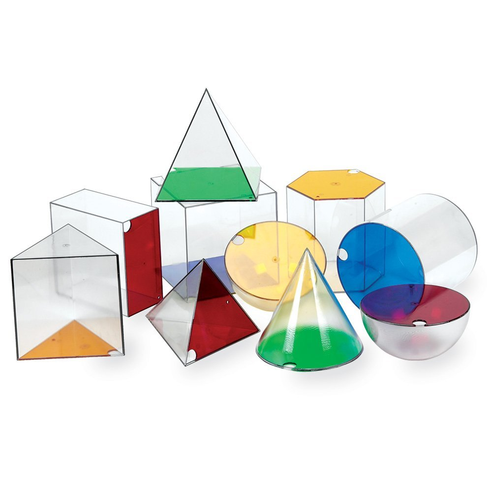 Learning Resources Giant GeoSolids, Large Plastic Shapes by Learning Resources