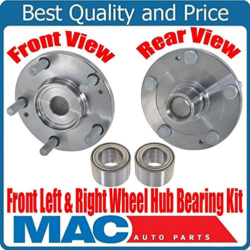 (2) New FRONT Wheel Bearing With Hub Kits for Hyundai Tiburon 2.0L 03-08 ONLY