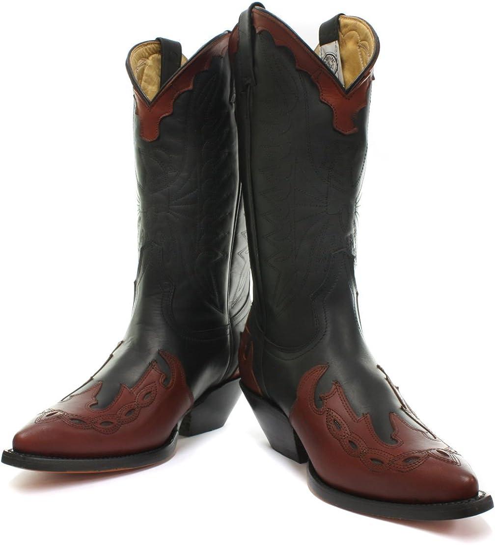 Nuevo Grinders Carolina Negro para Hombre Occidental Botas De Vaquero Todas Las Tallas