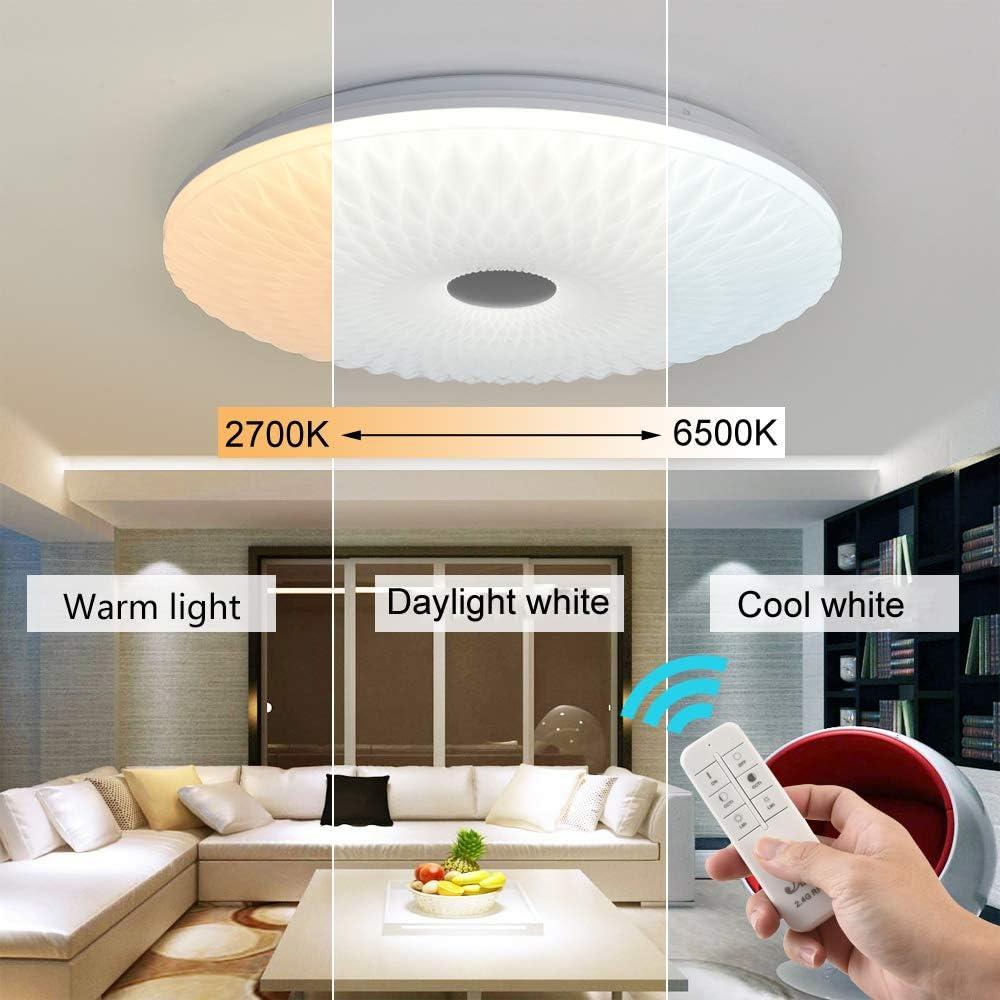 LED Deckenleuchte Dimmbar mit fernbedienung, Moderne Design