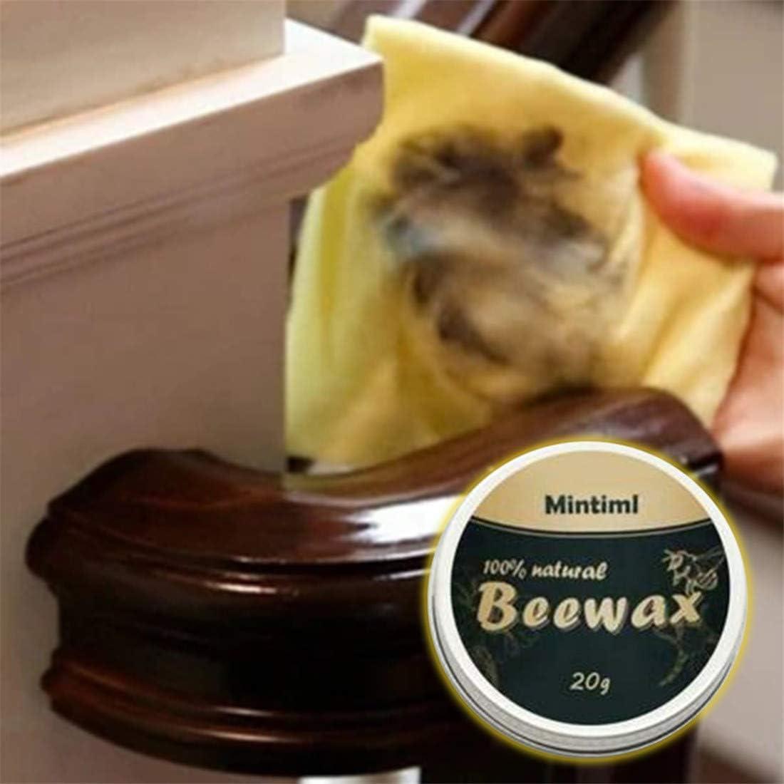 Gelb, 20g jfhrfged Pure Natural Beeswax M/öbelpflege Polieren Wasserdicht Abriebfestes Wachs Holzgew/ürz Reinigungswachs 20 200g