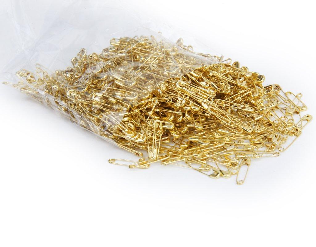 Lotto 1000 Pezzi Spille Di Sicurezza In Metallo Tono Oro 20 Millimetri