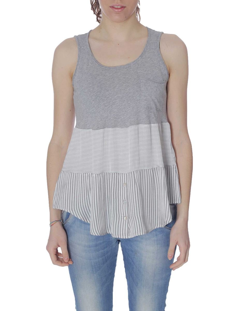 Camiseta SM Mujer deha d53430mainapps, mujer, gris, M