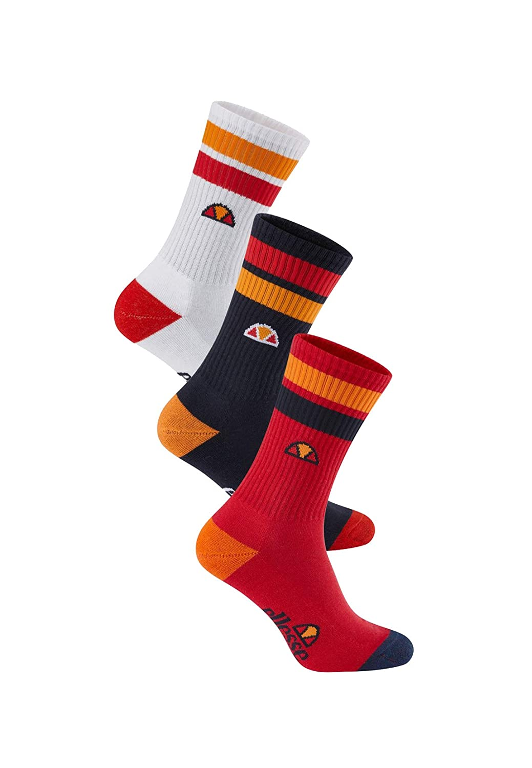 nvwhtred Ellesse Gabbo 3 Pack Calcetines Talla /Única Hombre
