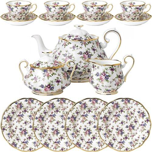 100 Years of Royal Albert - 1940 English Chintz 15 Piece Tea Set