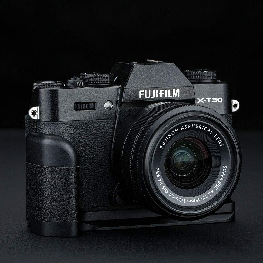 JJC Handgriff Kameragriff Metall L-Platte Schnellwechselhalterung f/ür Fujifilm Fuji X-T30 X-T20 X-T10 ersetzt Fujifilm MHG-XT10 Handgriff