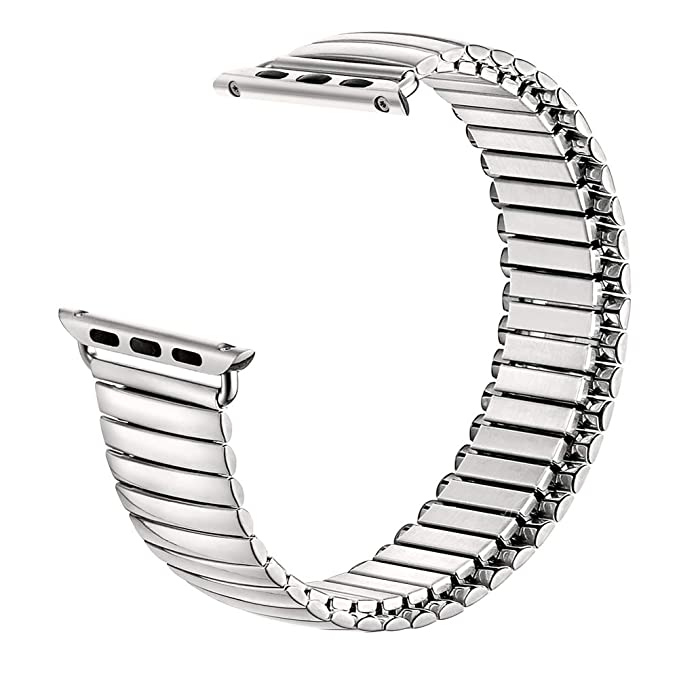 30230f4f8992c5 Compatible with Apple Watch Band Twist-O-Flex Metal Expansion 38mm / 42mm  Stainless