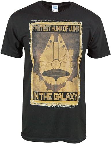 Star Wars - Hombre Millennium Falcon Hunk of Junk Camiseta Negro Small Negro: Amazon.es: Ropa y accesorios