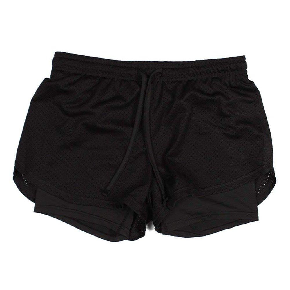 Hibasing Pantaloncini da Donna 2 in 1 Asciugatura Rapida per l'Abbigliamento Sportivo Sport da Jogging Corsa Calcio Palestra Abbigliamento da Ciclismo Materiale Traspirante