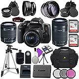 Canon EOS Rebel T6i Digital SLR Camera Canon EF-S 18-55mm IS STM Lens + Canon EF-S 55-250mm f/4-5.6 IS STM Lens