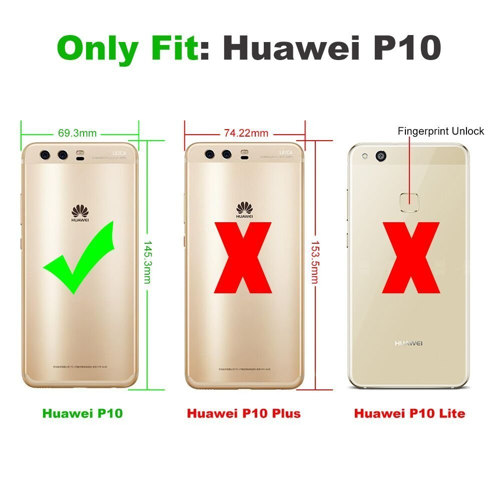 JD Huawei P10 Protector de Pantalla (3 Paquetes), [Cristal Templado ...