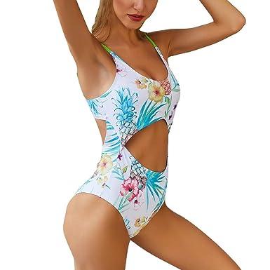 Mujer Ropa de Baño Tops de Bikini con Relleno Traje de Baño ...