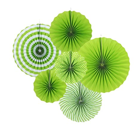 Sunbeauty 6set La Corona Verde papierf. Plato de Decoraci¨®n para Celebrar la