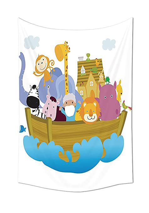 Noahs Ark Decor tapiz colgar en la pared cristiana antigua historia Noahs Ark con Set de