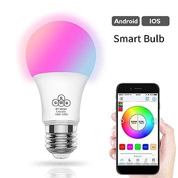 Smart Bluetooth WiFi Lámpara Bombilla LED - Beatie E27 RGB Bombilla LED inteligente Controlables Via App: Amazon.es: Bricolaje y herramientas