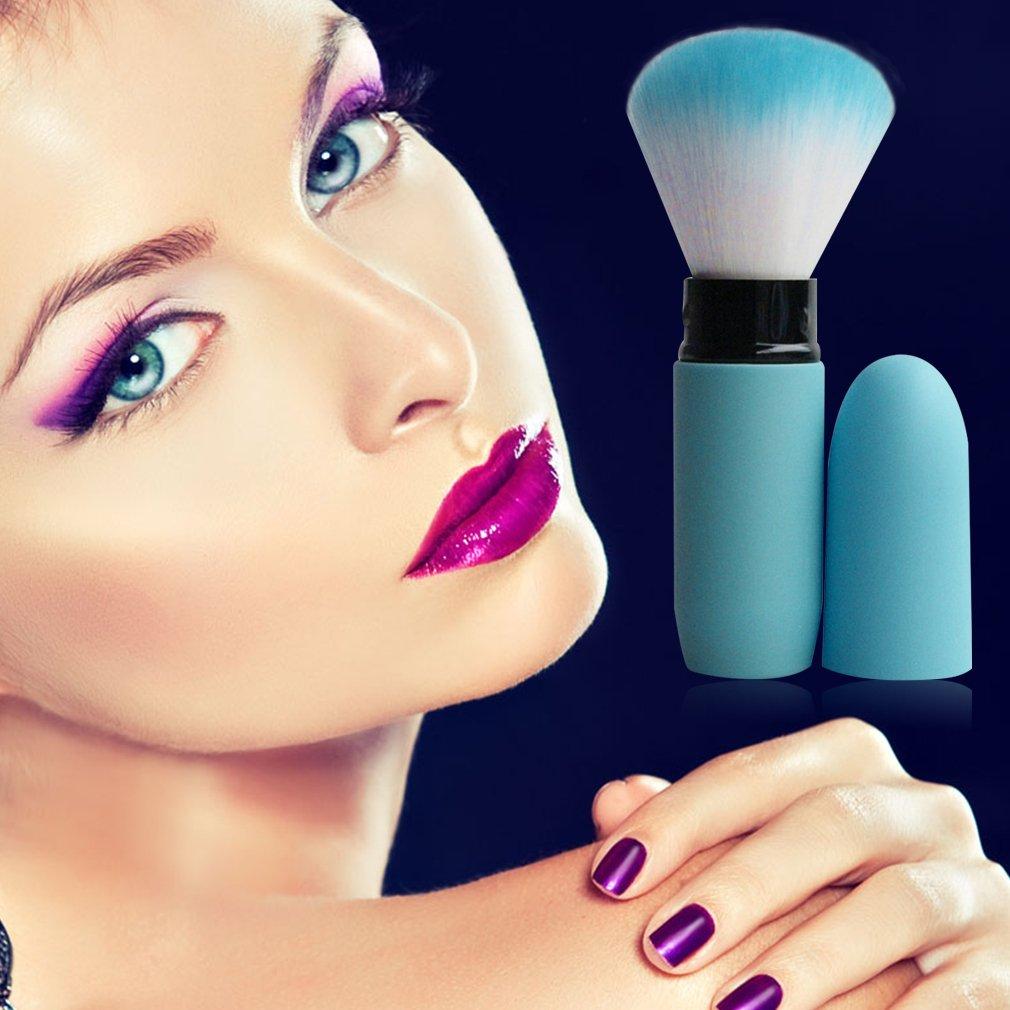 Aszune Portable Retractable Brush Loose Powder Brush Blush Brush Makeup Brush