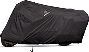 Guardian By Dowco - WeatherAll Plus Indoor/Outdoor Motorcycle Cover - Lifetime Limited Warranty - Reflective - Waterproof - UV Protection - Heat Safe - Moisture Guard Vent - Black - XXXL [ 50006-02 ]