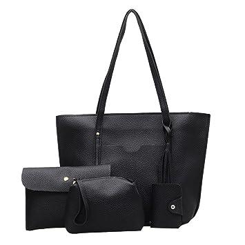 5eeca9ff19 Amazon.com  NEARTIME Women 4Pcs Shoulder Bags