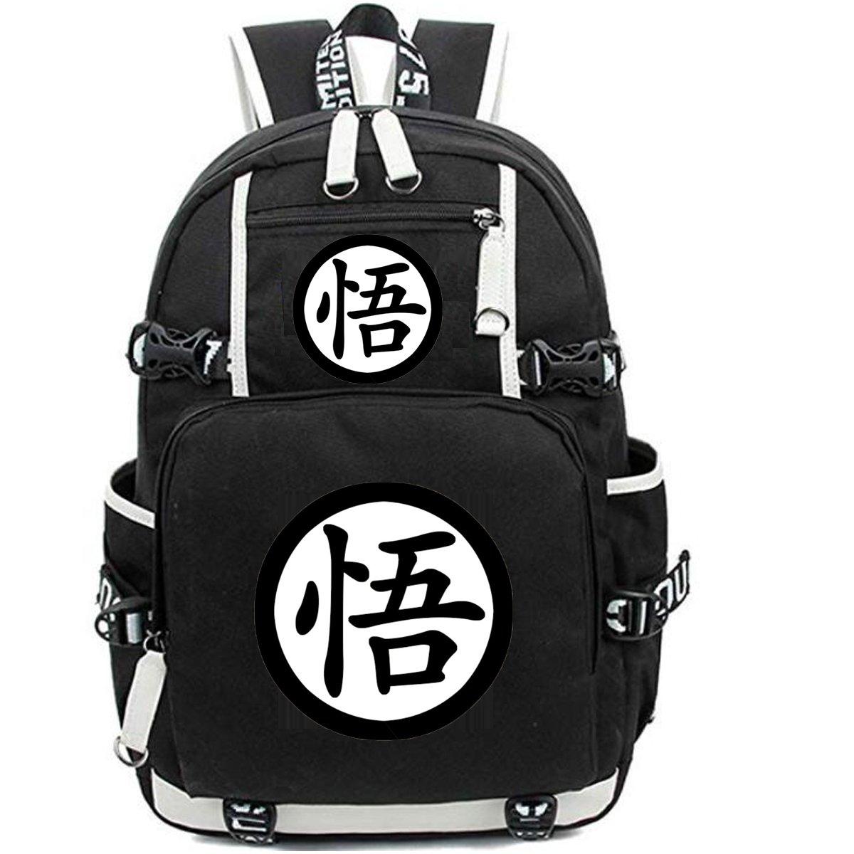 NSOKing Hot Japanese Dragon Ball Anime Cosplay Student Travel Backpack Bag (Length 13'' Height 17.3'' Width 5.9'', Black03)