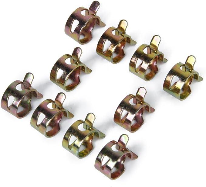 100 Paquets Shiwaki Clips//Colliers De Serrage /à Ressort Carburant Air Tuyau deau Auto-Serrage