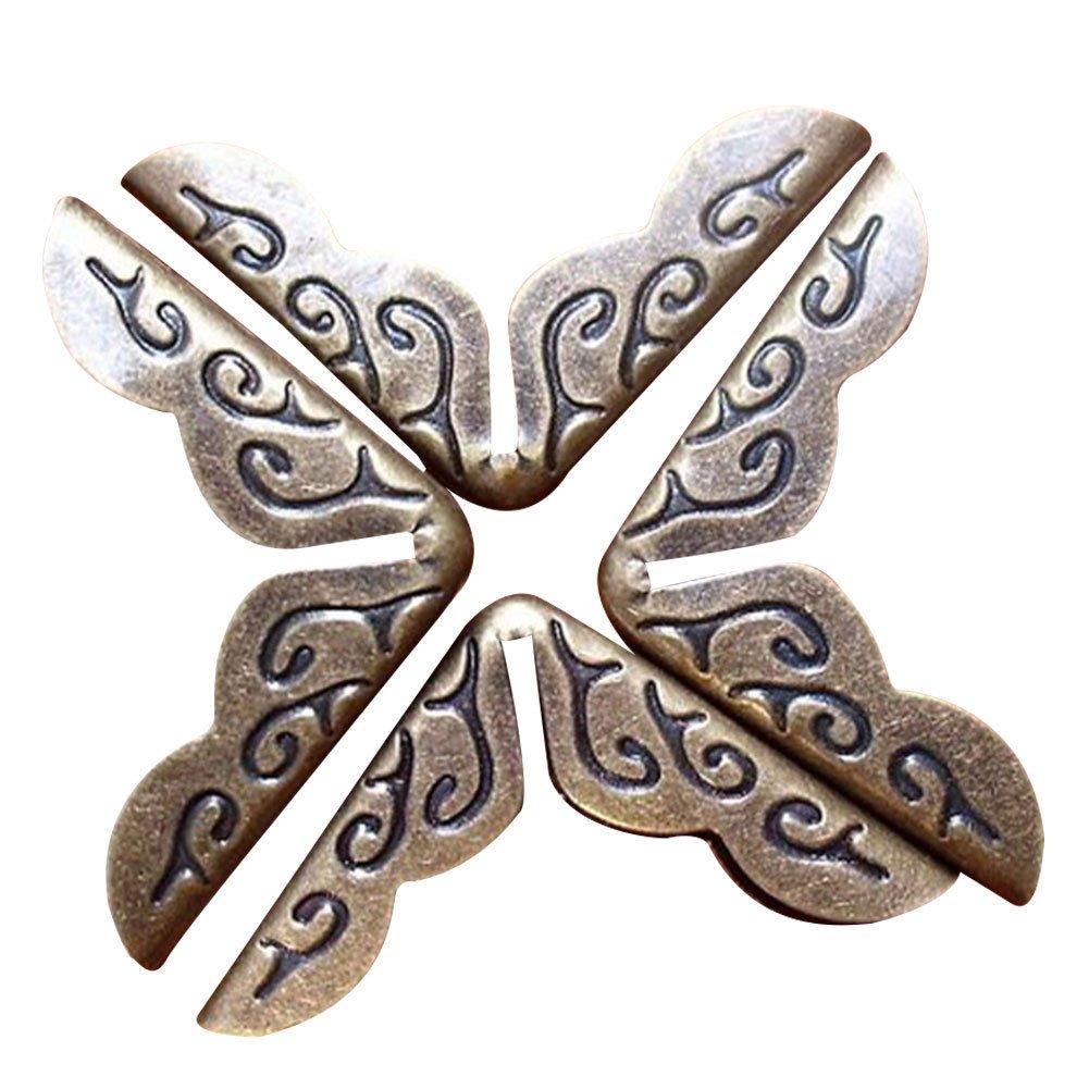 Chen Rui 10pcs Vintage Bronze Protector Protecteur D'angle Protection Protège Coin Bord Corner Métal Pour Livre Album Scrapbooking Bijoux
