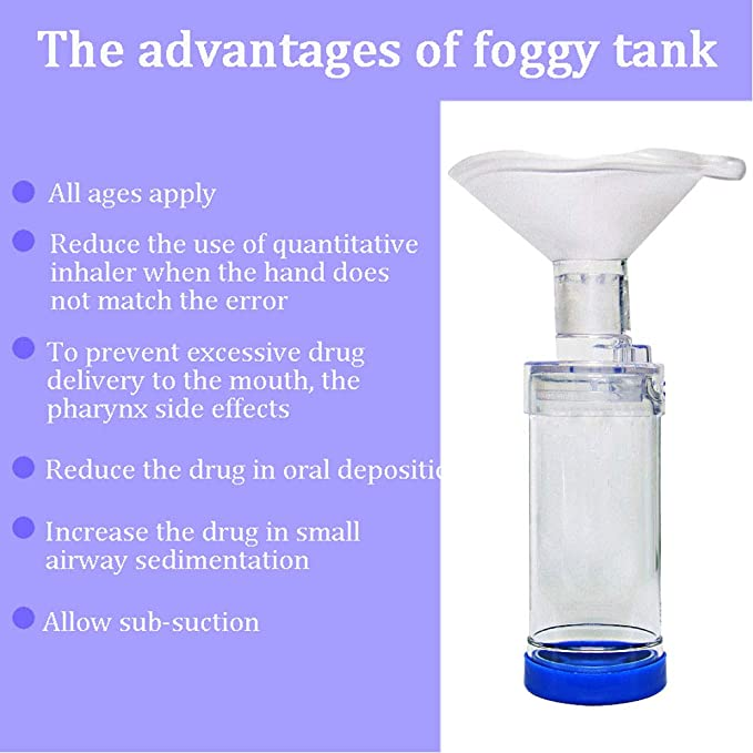 Huapa bebé inhalador automatizador espaciador niebla depósito tanque nebulizador con máscara CompMist compresor nebulizador taza boquillas con tres máscara: ...