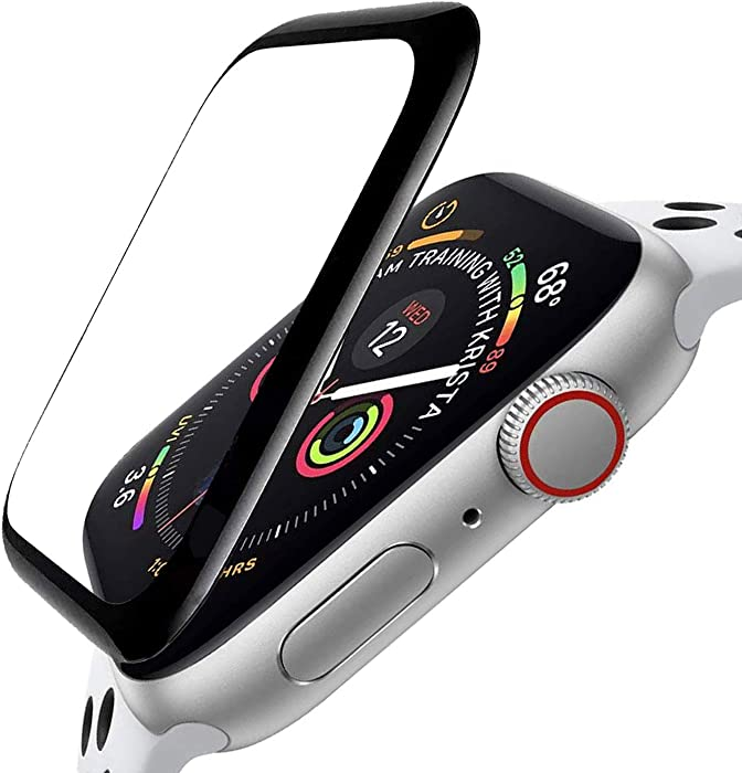 ZPIAR [3 Pack] Screen Protector for Apple Watch SE Series 6 5 4 44mm Full Screen Coverage Anti-Scratch Bubble Free Waterproof Ultra HD Full Cover Edge Flexible Film for iWatch SE/Series 6 5 4 (44mm)