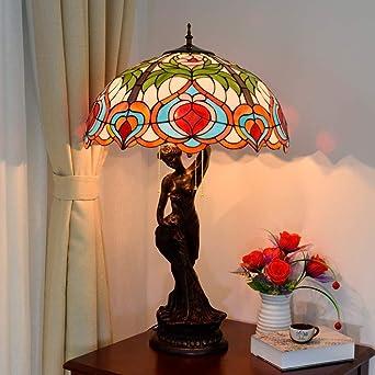 Lámparas de escritorio DAIFHI YWXLight retro manchado pantalla de ...
