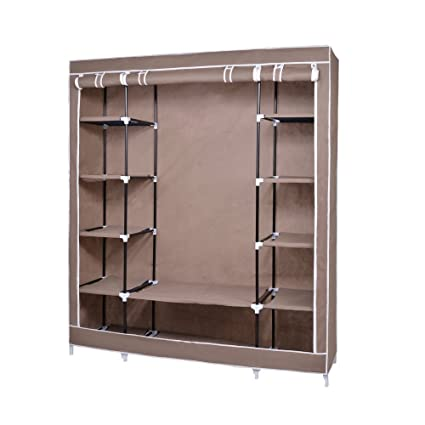Nex® Portable Storage Organizer Wardrobe Closet U0026 Shoe Rack Assemble Easy  69u0026quot; X 51u0026quot