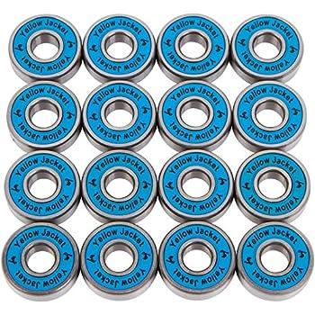Amazon.com : Yellow Jacket Premium Skateboard Bearings, Pro ...