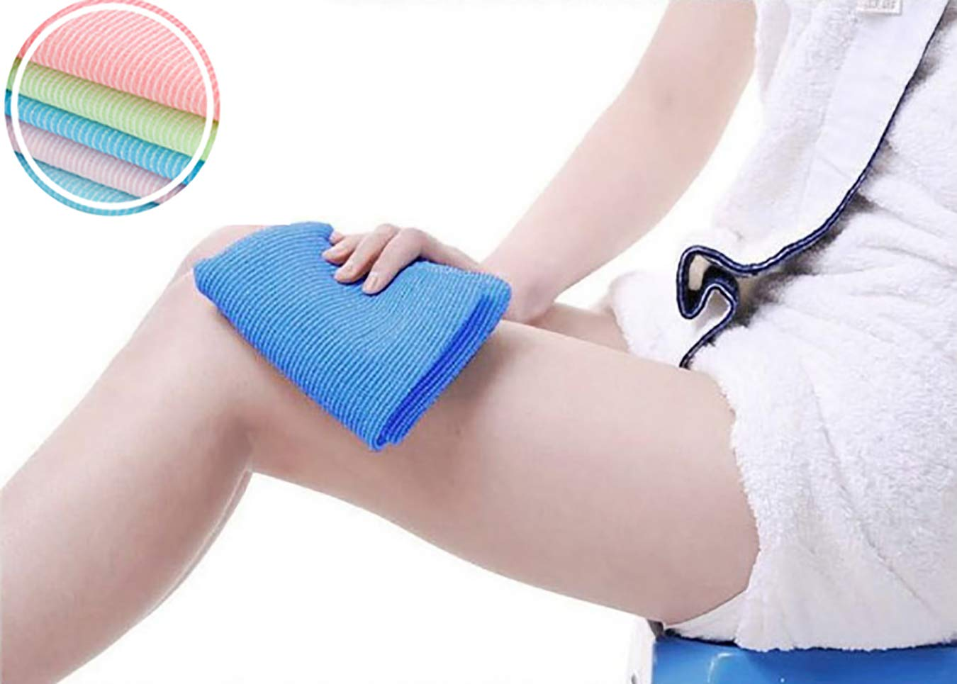 3 ZOWE 3 Pieces Beauty Skin Bath Wash Towel Exfoliating Bath Cloth Magic Shower Washcloth for Body 35 Inches