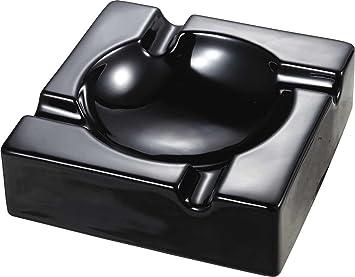 Visol VASH903 Donovan Black Ceramic Cigar Ashtray For Patio Use