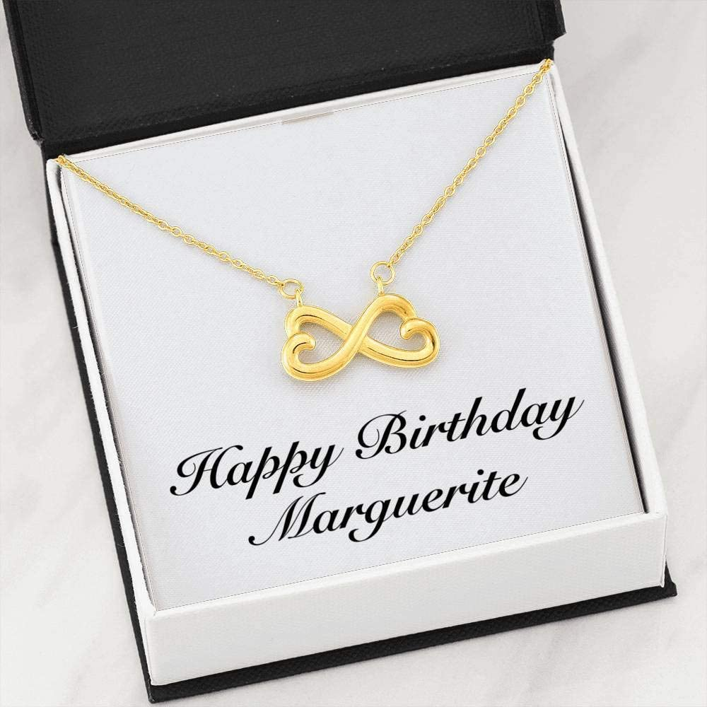 Infinity Heart Necklace 18k Yellow Gold Finish Personalized Name Unique Gifts Store Happy Birthday Marguerite